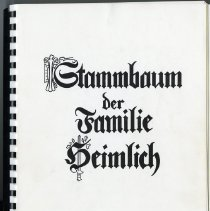 Image of Book - The Heimlick Family Tree