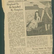 Image of Clipping, Newspaper - Sheperd to be Installed by Templars