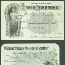 Image of Card, Admittance