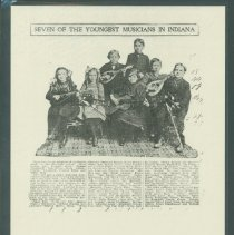 "Image of Clipping, Newspaper - ""Seven of the Youngest Musicians in Indiana"""