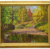 Image of Painting - Brown County Road