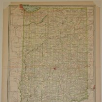 Image of Map - The Century Atlas - Indiana