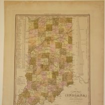 Image of Map - A New Map of Indiana with its Roads and Distances