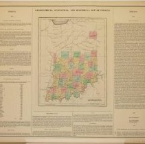 Image of Map - Geographical, Statistical and Historical Map of Indiana