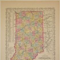 Image of Map - A New Map of Indiana with its Roads & Distances