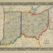 Image of Map - County Map of Ohio & Indiana