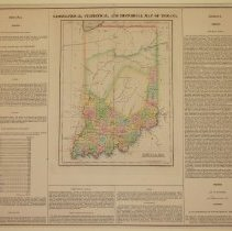 Image of Map - Geographical, Statistical, and Historical Map of Indiana