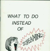 Image of What to do instead of screaming! - Nagel, Myra B.