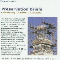 Image of Preservation Briefs - National Park Service