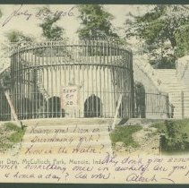 Image of Postcard - The Bear Den, McCulloch Park, Muncie, Ind.