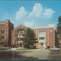 Image of Postcard - Library and Assembly Hall, Ball State Teachers College, Muncie, Ind.