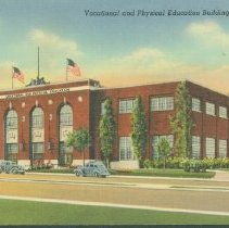 Image of Postcard - Muncie Vocational & Physical Education Building