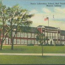 Image of Postcard - Burris Laboratory School, Ball Teachers' College, Muncie, Indiana