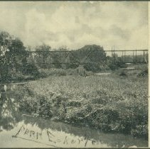 Image of Postcard - View of White River from Bridge, looking Southwest, Anderson, Ind.