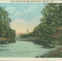 Image of Postcard - White River from Minnetrista Blvd., Muncie, Ind.