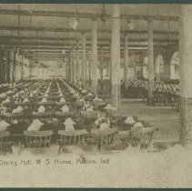 Image of Postcard - Dining Hall, N S Home, Marion, Inc.