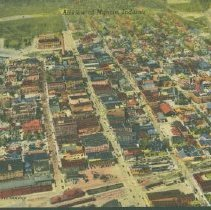 Image of Postcard - Airview of Muncie, Indiana