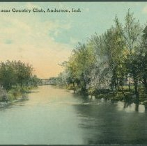 Image of Postcard - White River, near Country Club, Anderson, Ind.