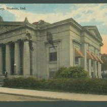 Image of Postcard - Public Library, Muncie, Ind.