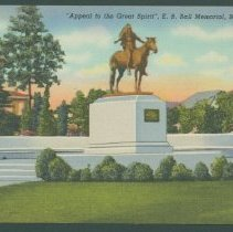 "Image of Postcard - ""Appeal to the Great Spirit"", E.B. Ball Memorial, Muncie, Ind."