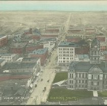 Image of Postcard - Birdseye View of Muncie, Ind., looing south.