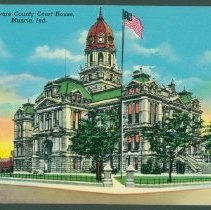 Image of Postcard - Delaware County Court House, Muncie, Ind.
