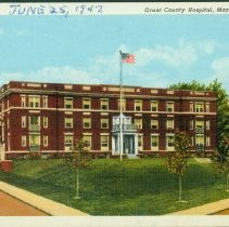 Image of Postcard - Grant County Hospital, Marion, Indiana.