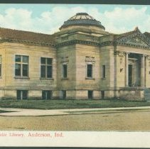 Image of Postcard - Public Library, Anderson, Ind.