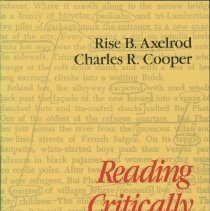Image of Reading critically, writing well : a reader and guide - Axelrod, Rise B.