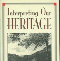 Image of Interpreting our heritage - Tilden, Freeman, 1883-