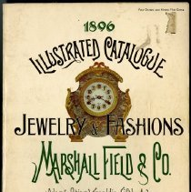 Image of 1896 illustrated catalogue of jewelry and European fashions, Marshall Field & Co. -
