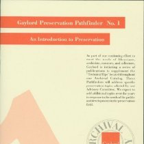 Image of Introduction to preservation, An -