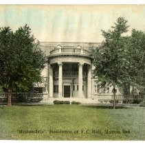 "Image of Postcard - ""Minnetrista,"" Residence of F.C. Ball, Muncie, Ind."