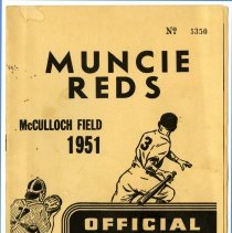 Image of Booklet - Muncie Reds Official Score Book