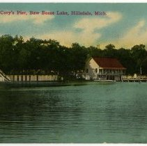 Image of Postcard - View from Cory's Pier, Baw Beese Lake, Hillsdale, Mich.
