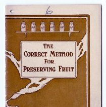 Image of Booklet - The Correct Method of Preserving Fruit