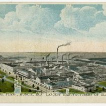 Image of Postcard - Ball Bros. Plant, Muncie, Ind. Largest Manufacturers of Glass Jars in World.