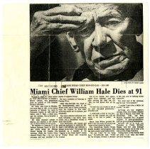 Image of Obituary - Miami Chief William Hale Dies at 91