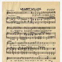 Image of Music, Sheet - We Want Willkie