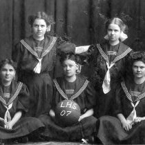 Image of 1907 Longmont High girls basketball team - Print, Photographic