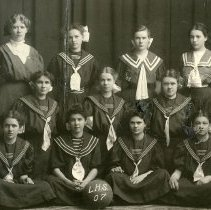 Image of 1907 Longmont High School girls basketball team - Print, Photographic