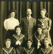 Image of 1908 Longmont High School girls basketball team - Print, Photographic