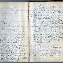 Image of Seth Terry 1872 diary, January 4-8