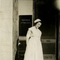 Image of Nurse by entrance