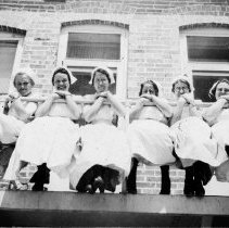 Image of Nurses on fire escape