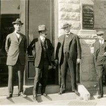 Image of Five men in front of hospital