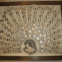 Image of 1932 Longmont High School class portraits, framed - Assemblage