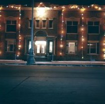 Image of Longmont City Hall Christmas 1958 - Transparency, Slide