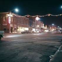 Image of Downtown Longmont Christmas 1957 - Transparency, Slide