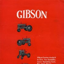 Image of Gibson Tractor Brochure (page 1)